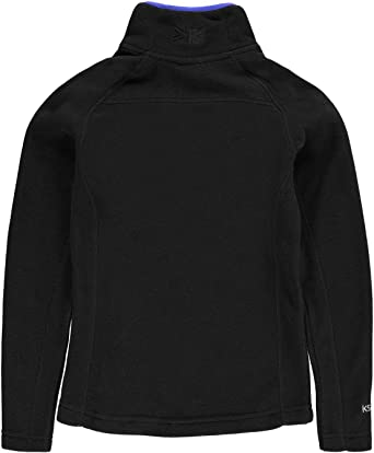 Kids Boys Karrimor Microfleece Junior Quarter Zip Fleece Top Chin Guard New