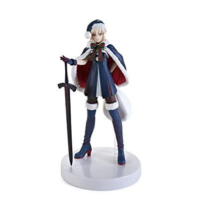"Furyu Fate/Grand Order Rider Altria Pendragon Santa Alter Servant Action Figure, 7"": Toys & Games"