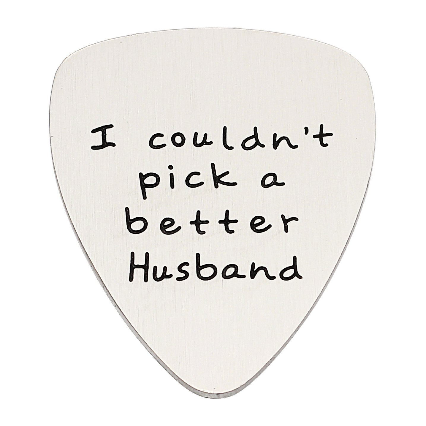 Husband Gifts Gift for Men I Couldn't Pick a Better Husband Guitar Pick Valentine Anniversary Christmas lauhonmin