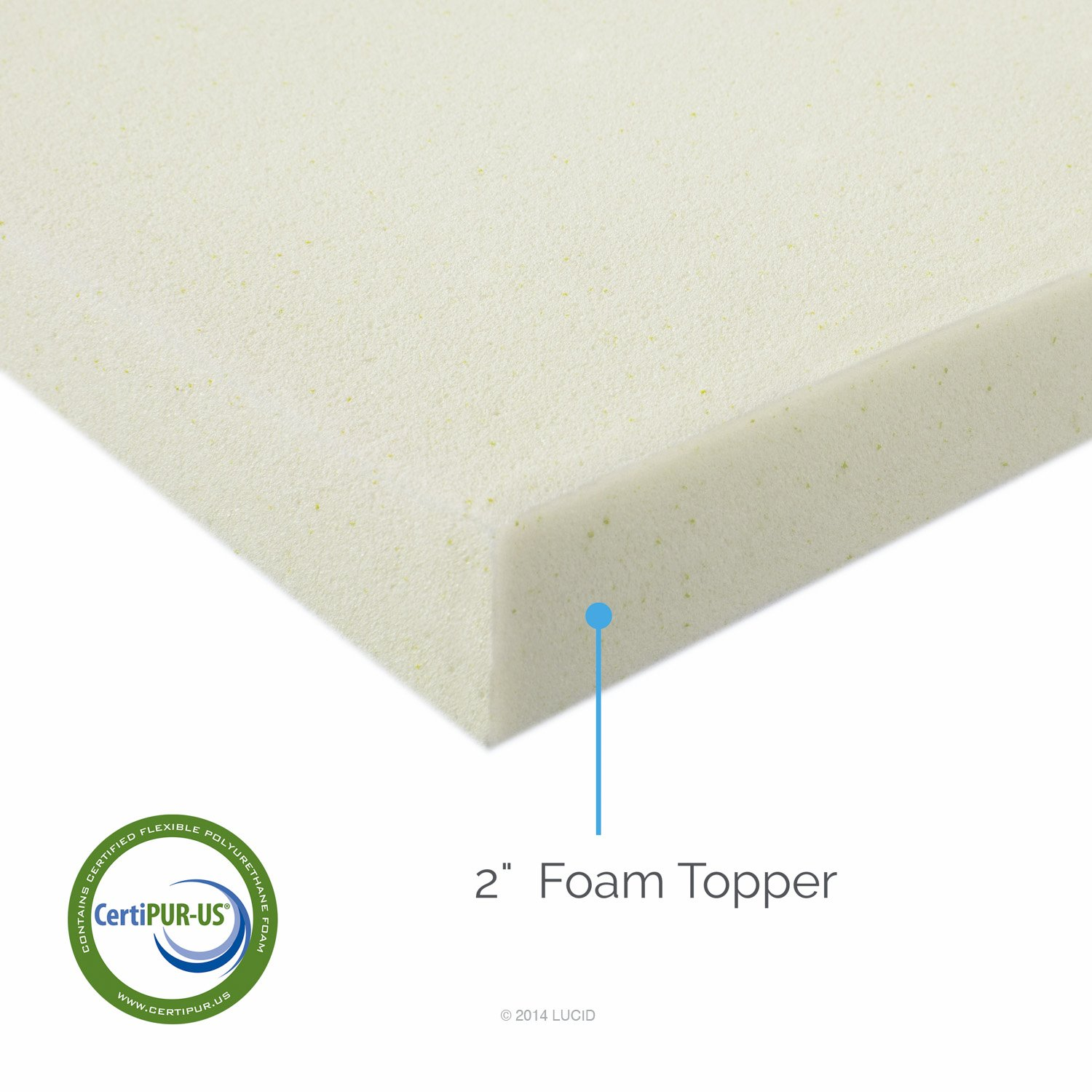 Amazon.com: LUCID 2 Inch Foam Mattress Topper Queen Size 3-Year Warranty:  Home & Kitchen