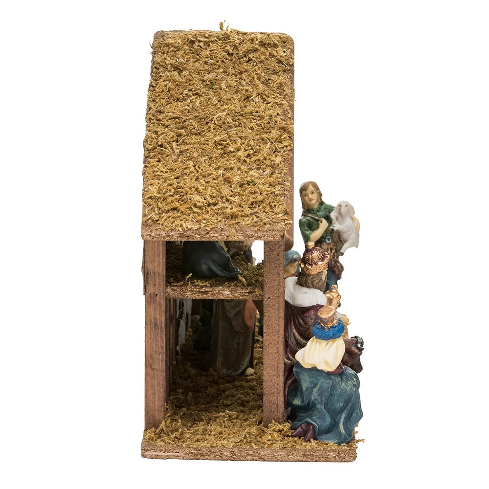 Kurt Adler Nativity Set with 15-Inch Wooden Stable and 10 Resin Figures by Kurt Adler (Image #4)