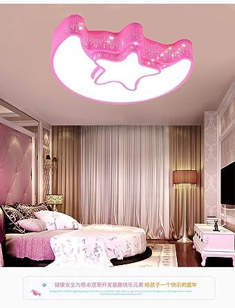 XQK Moderne Decke Kreativität Licht Kronleuchter Kinderzimmer Licht Mädchen  Deckenleuchte Led Licht Pink Princess Warme Und