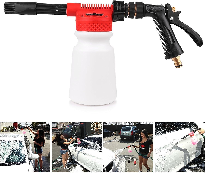 powstro coche limpieza espuma pistola lavado Foamaster, Pistola de agua jabón Shampoo pulverizador 900ml multifuncional para Van motocicleta vehículo