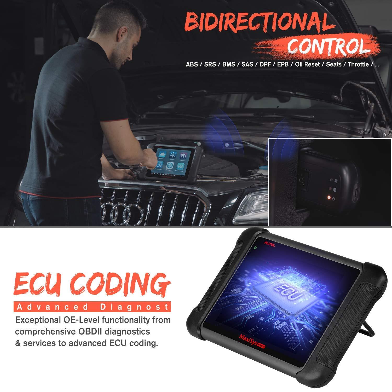 Verbesserte von DS808 MS906 Schl/üsselcodierung Autel MaxiSys MS906BT OBD2 Scanner OE-Level Bluetooth Diagnoseger/ät mit MV108 Inspektion Kamera Bidirektionaler Steuerung ECU Codierung Nur Englisch