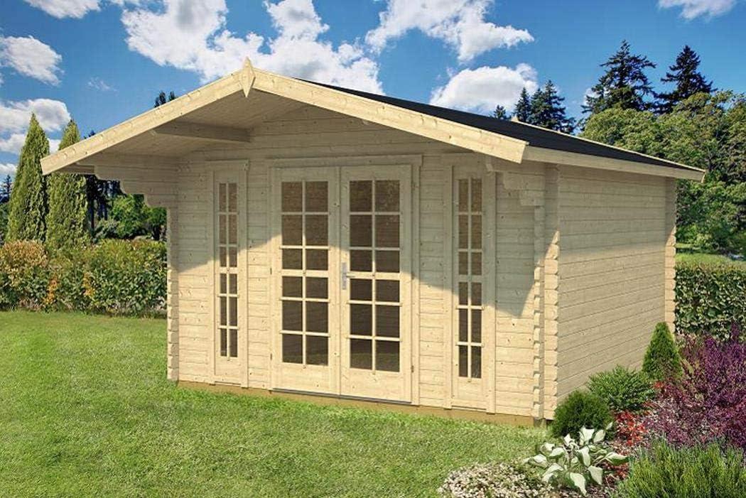 PRIKKER-Gartenhaus Jardín Casa Camilla – B40 Bloque casa 380 x 380 Cm – 40 mm – con Soporte Suelo + verglasung Cenador Madera Hogar Madera Cenador: Amazon.es: Jardín