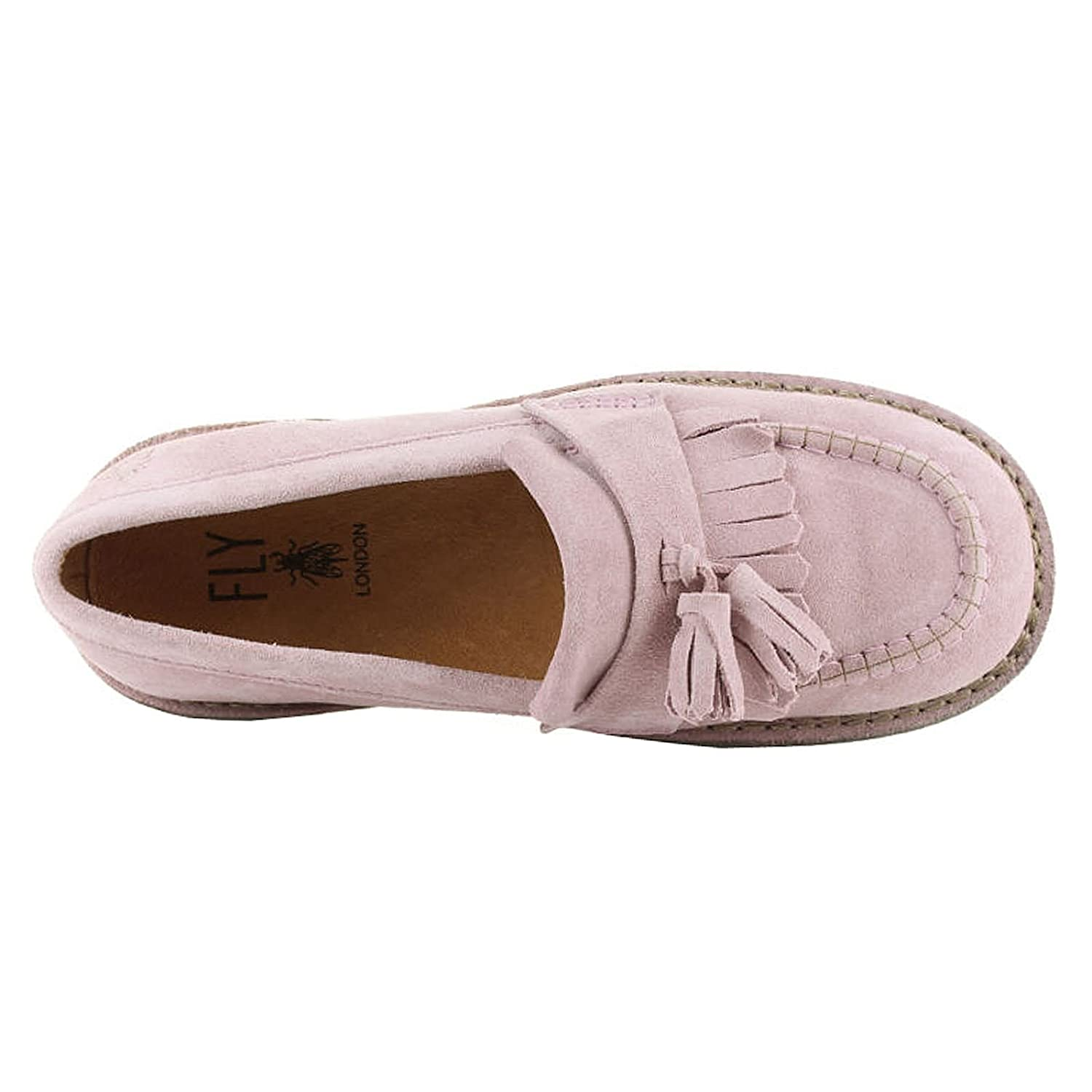 0476f9e4652 Size 7 Fly London Women s Juno Suede Loafers  Amazon.co.uk  Shoes   Bags