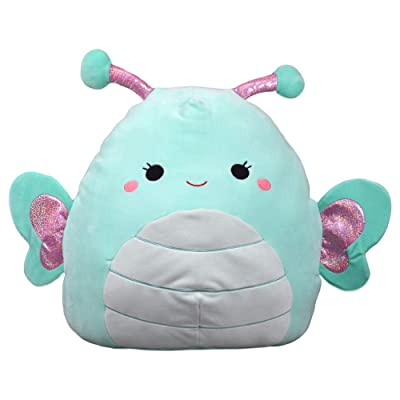 Squishmallows Kellytoy Aqua 16 Inch Butterfly Reina Plush Pillow Pet Stuffed Animal Toy: Toys & Games