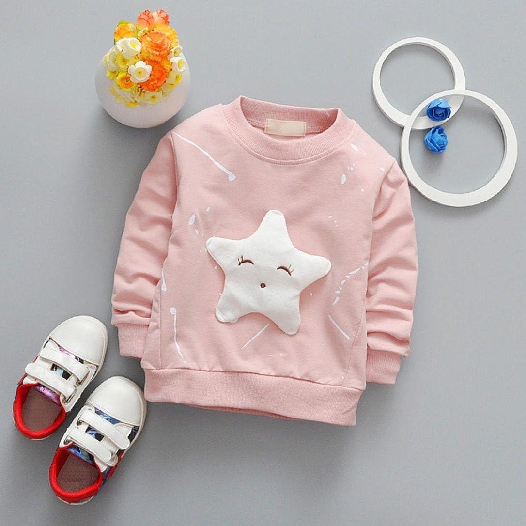 Kobay Junge M/ädchen Baby Outfits Kleidung InfantStar Gedruckte Baumwolle Lange /Ärmel T-Shirt