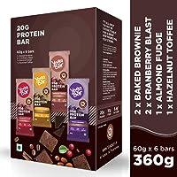 Yogabar 20 gram Protein Bar Variety Box - 6 x 60 g (Single Pack)