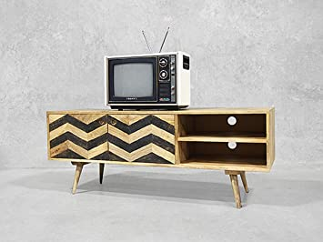 Meuble Tv Scandinave 130 Cm Zigzag Meuble House Amazonfr