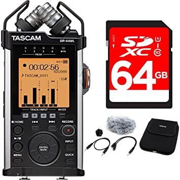 Amazon com: Tascam Portable Recorder with XLR and Wi-fi DR-44WL