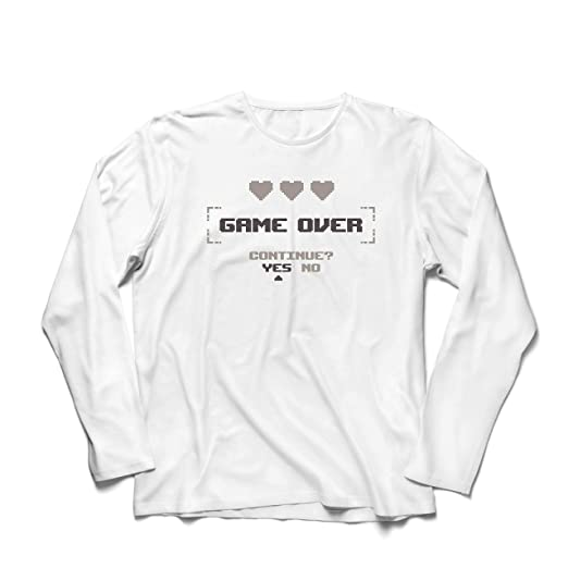 Men's Video T Lepni me Gamer Funny Shirt Game Over No ContinueYes 9DH2EWI