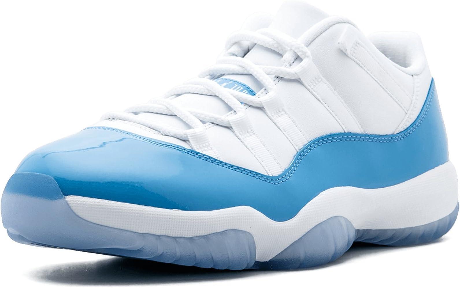timeless design acb72 12d56 Men Air Jordan 11 Retro Low (White/University Blue) Size 9.5 US