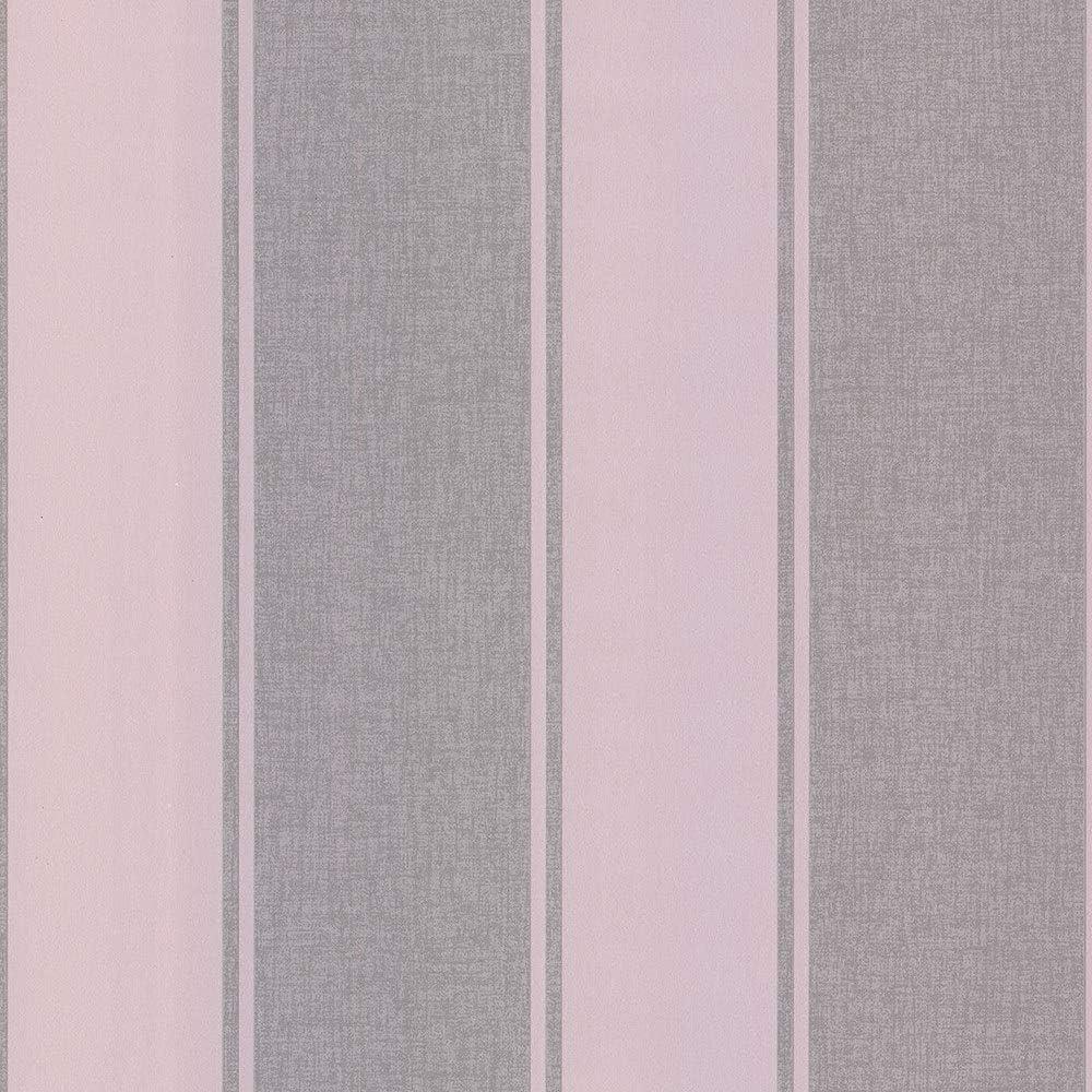 dise/ño de rayas Arthouse 910208 910208-Papel pintado Full Roll color rosa oscuro
