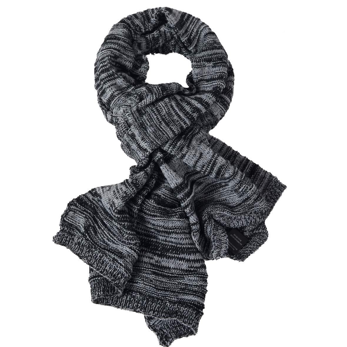 VECRY Homme Longue Écharpe Doux Chaud Épais Tricoter D hiver Écharpes  (Côtelé-Gris)  Amazon.fr  Vêtements et accessoires 117de9c7e11