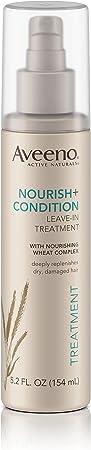 Aveeno Nourish Condition Leave-In Treatment, Replenish Damaged Hair, 5.2 Fl. Oz