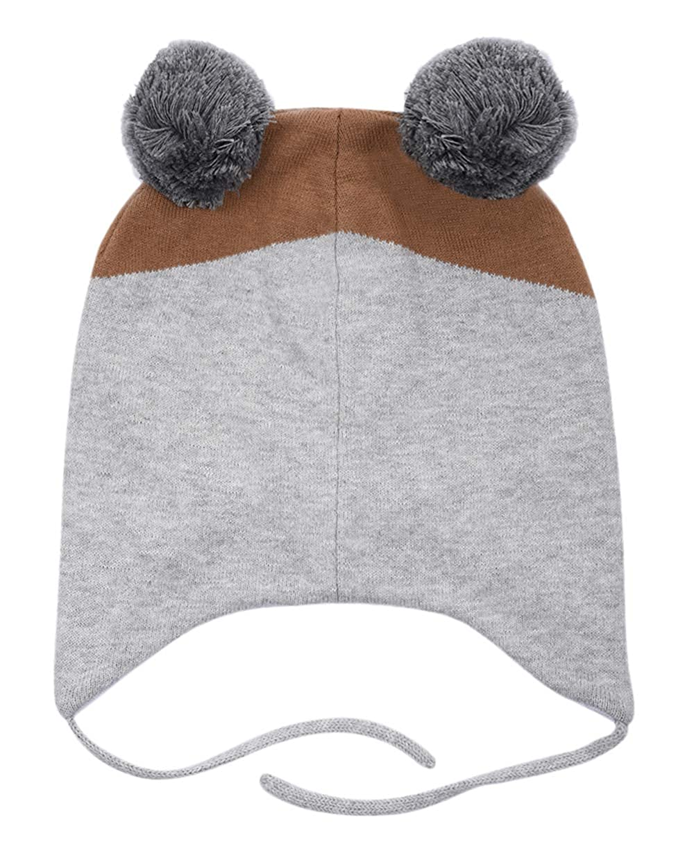 Amazon.com  Eriso Toddler Baby Fox Hat Mittens Set Little Kids Knit Winter  Caps  Clothing 0b9e48d0b3ff