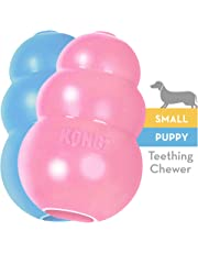 KONG - Puppy Toy - Natural Teething Rubber - Fun to Chew, Chase and Fetch ( Colors May Vary