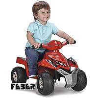 FEBER Racy - Quad électrique pour enfants de 18 mois à 3 ans, 6V, Rouge (Famosa 800011252)