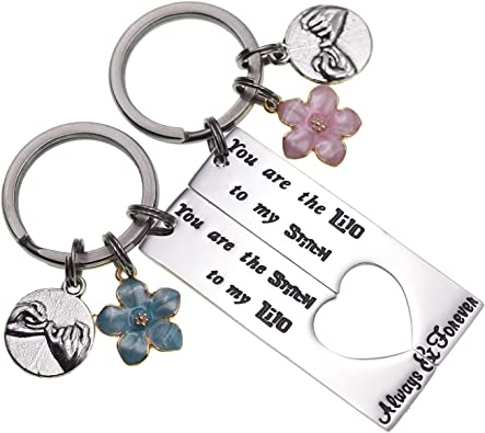 MAOFAED Best Friend Keychain Friendship Gift You are The Lilo to My Stitch Lilo and Stitch Inspired Keychain Gift for BFF