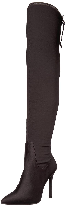 Jessica Simpson Women's Londy Fashion Boot B07673428N 10 B(M) US Black Satin