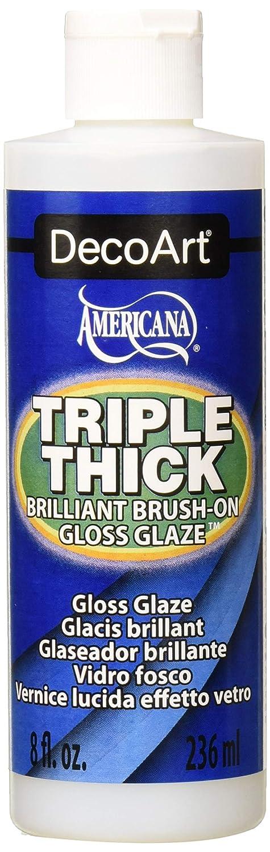 DecoArt TG01-9 Triple Thick Gloss Glaze, 8-Ounce Triple Thick Gloss Glaze