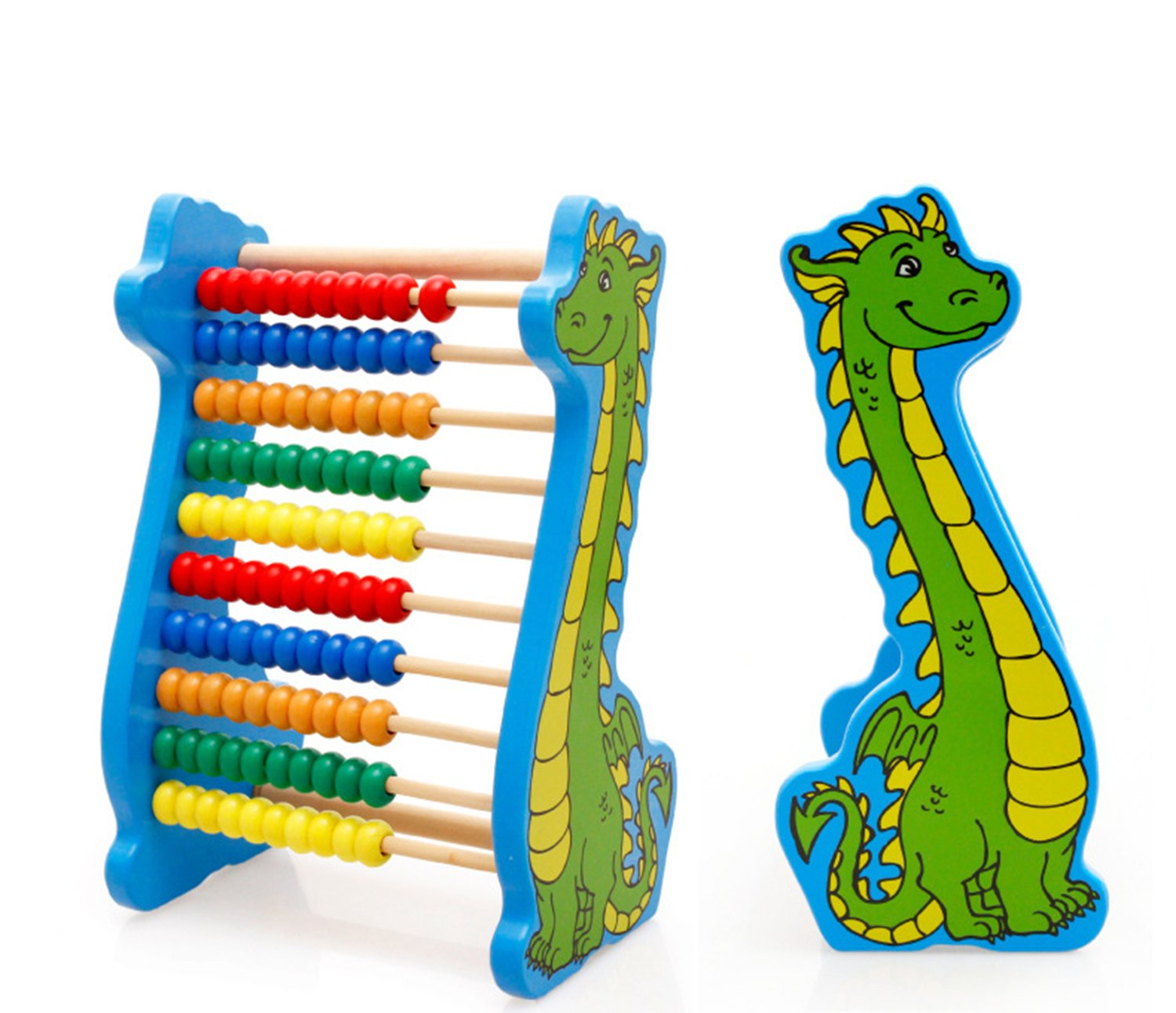 Lewo Wooden Counting Frame Bead Maze Abacus Preschool Children
