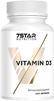 Vitamin D3 hochdosiert 1000 IE Depot   200 Tabletten für Knochen, Zähne, Gelenke und das Immunsystem   Jahresvorrat (keine Ka