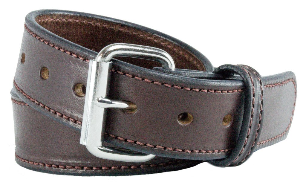 Relentless Tactical The Ultimate Concealed Carry CCW Leather Gun Belt - New and Improved - 14 Ounce 1 1/2 inch Premium Full Grain Leather Belt - Handmade in The USA! Brown Size 50 by Relentless Tactical