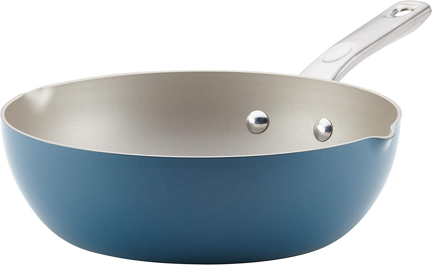 Ayesha Curry 10750 Home Collection Nonstick Fry Saute Pan/Chefpan, 9.75 Inch, Twilight Teal Blue