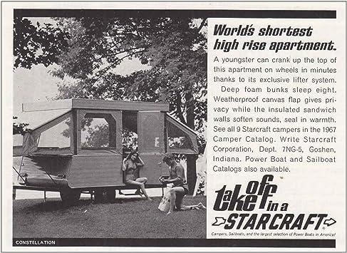 1967 Starcraft Camper High Rise Apartment Vintage Print Ad