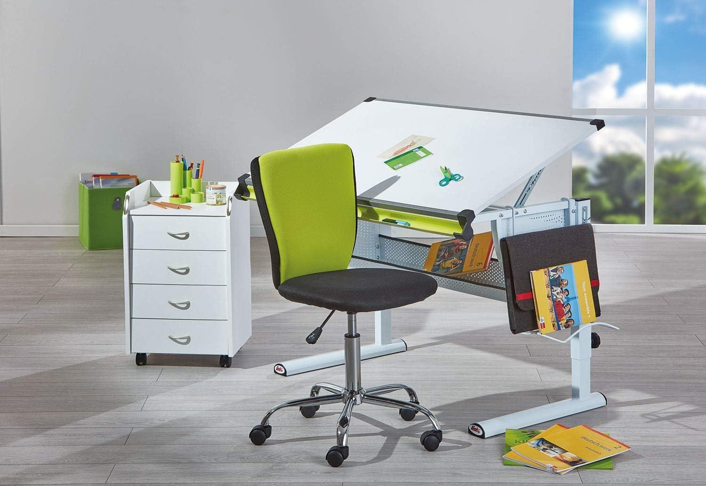Inter Link B/ürostuhl Jugenddrehstuhl Kinderdrehstuhl Schreibtischstuhl Drehstuhl Metall Bezug Mesh Schwarz und Blau