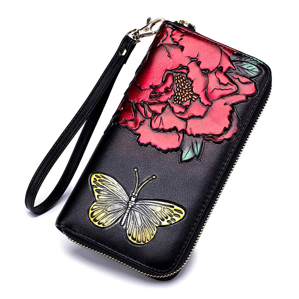 Women PU Leather Long...