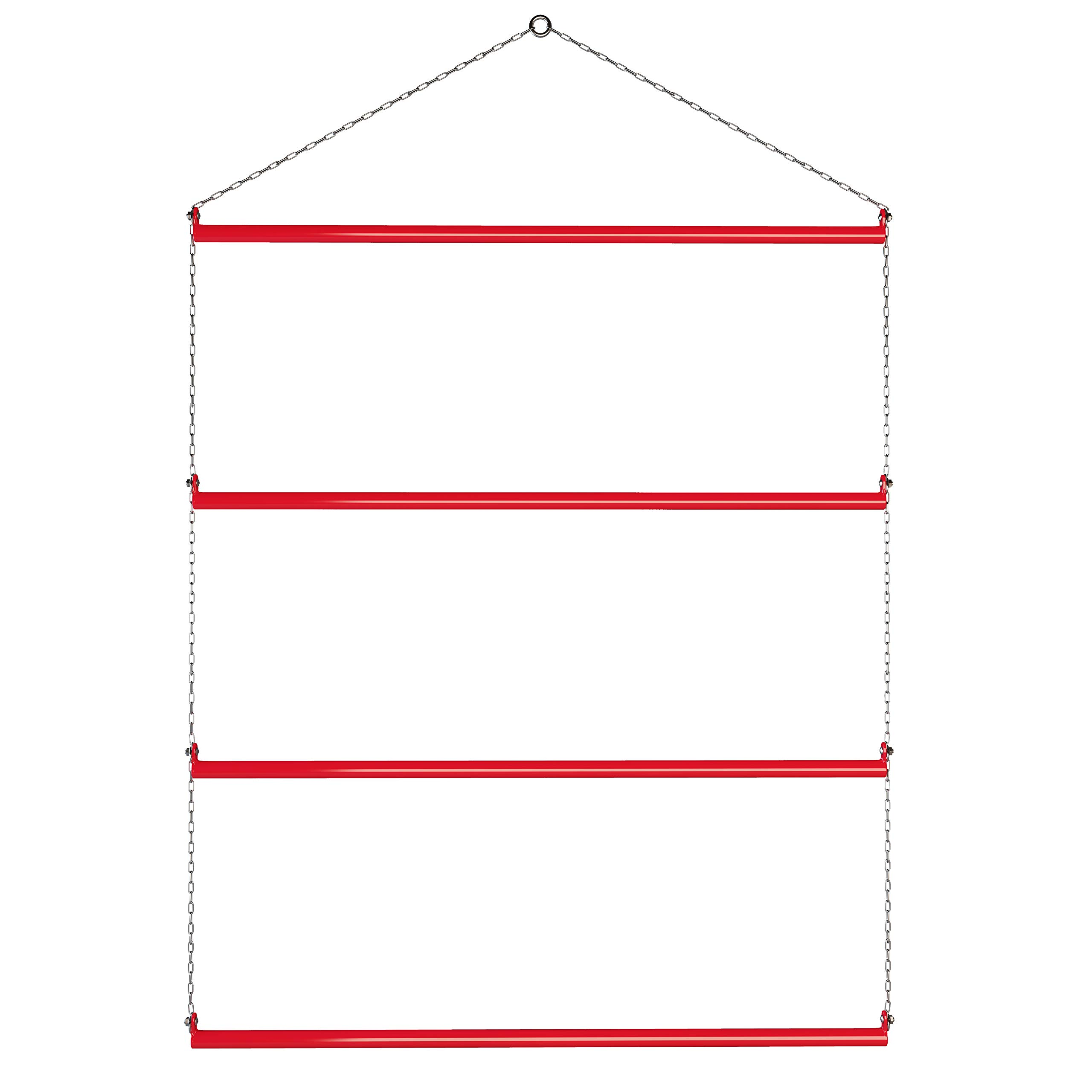 Echo Beach Equestrian Blanket Rack 33'' (Red). Available in Black, Blue, Red & Pink. Suitable for Horse Blankets, Saddle Blankets and Rugs. Extra Long for Western Saddle Blankets and Horse Blankets.