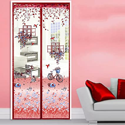 Magnetic fly insect screen door Anti-mosquito curtain, Full frame ...