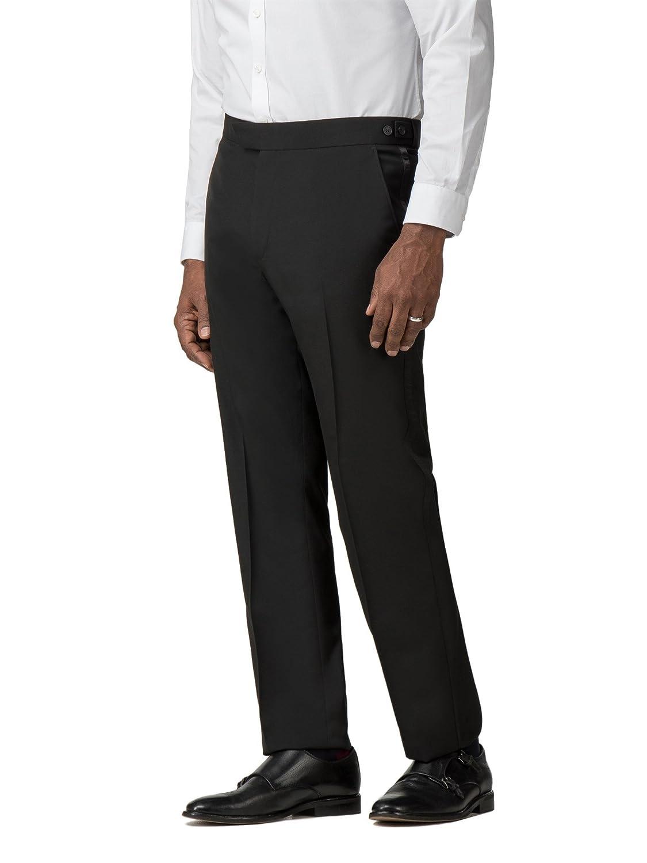 Scott & Taylor Black Dinner Suit Trouser ST120456 by Suit Direct