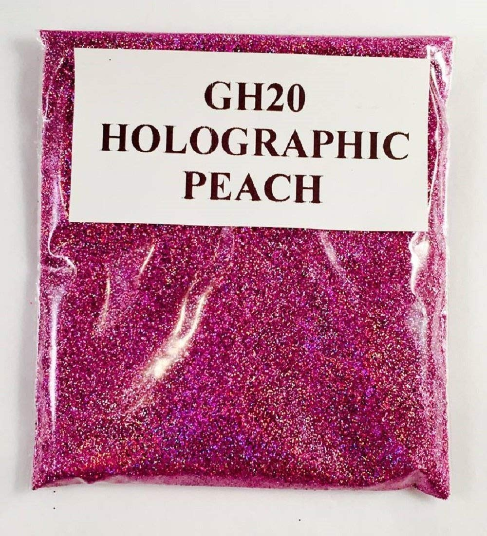 (GH20 – HOLOGRAPHIC PEACH 100G) GLITTER NAIL ART COSMETIC CRAFT FLORIST WINE GLASS GLITTER TATTOO N/A