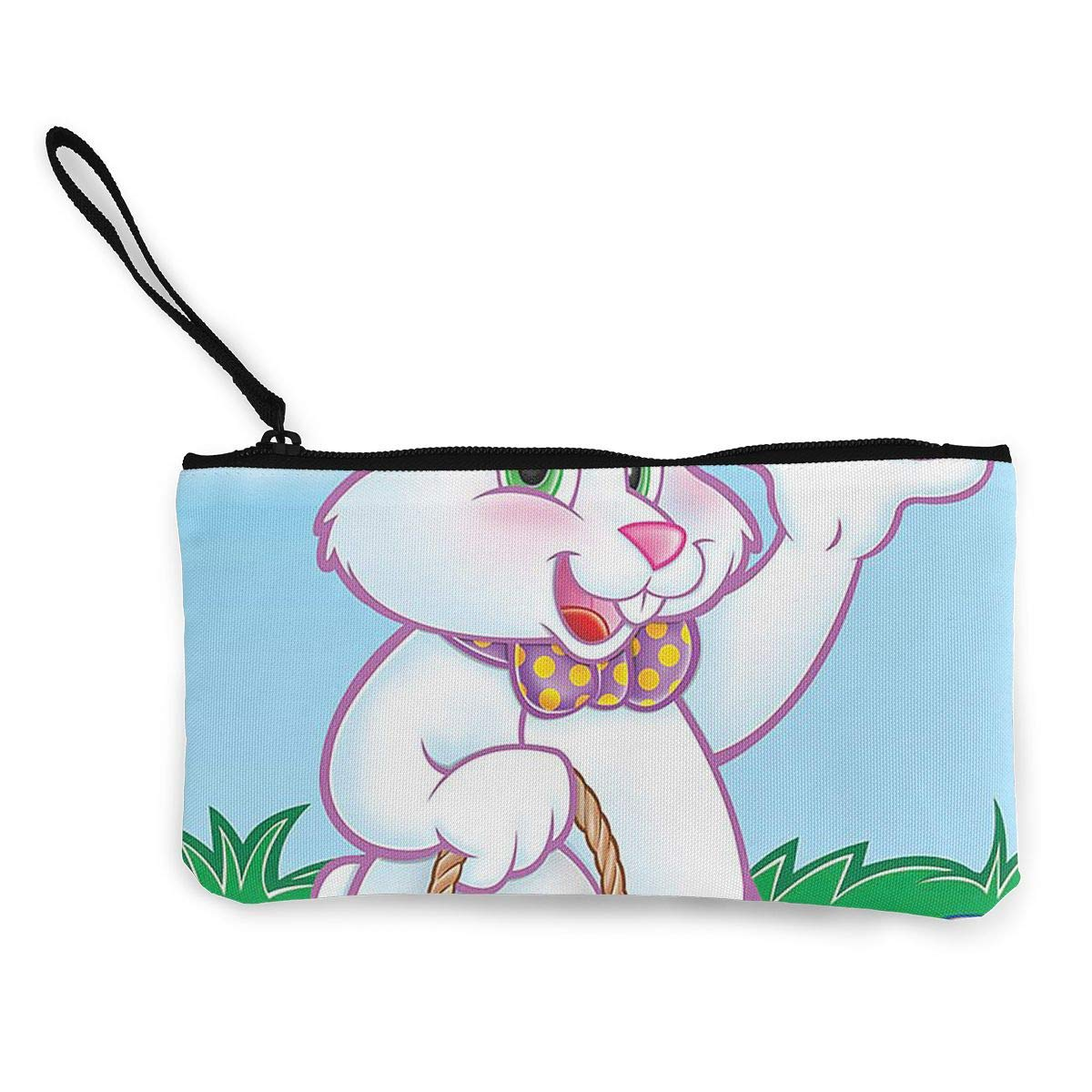 Maple Memories Easter Bunny Eggs Portable Canvas Coin Purse Change Purse Pouch Mini Wallet Gifts For Women Girls