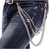 BeOne Men Cool Hip Hop Punk Pants Trousers Wallet Key Chain Motorcyle Jean Gothic Rock DIY Craft Decor Rock Style Jeans Pant Chain Heavy Waist Chain