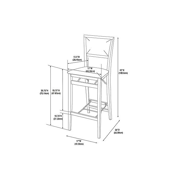 Linon Keira Pad Back Folding Bar Stool
