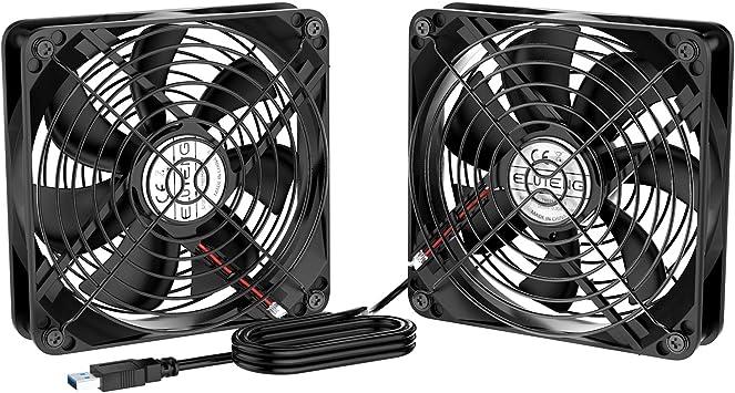 ELUTENG Ventilador 2 en 1 de 120 mm, Ventilador de refrigeración ...