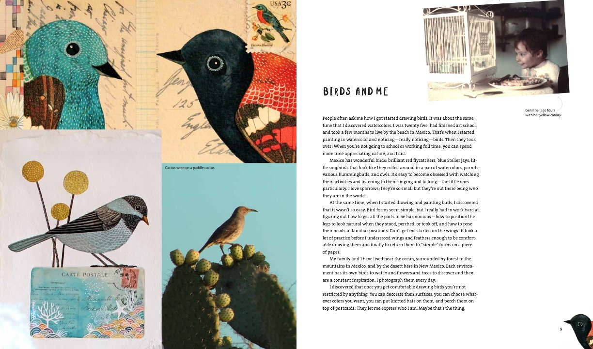 Geninnes Art: Birds in Watercolor, Collage, and Ink: A field guide to art techniques and observing in the wild Gennies Art: Amazon.es: Geninne D. Zlatkis: ...