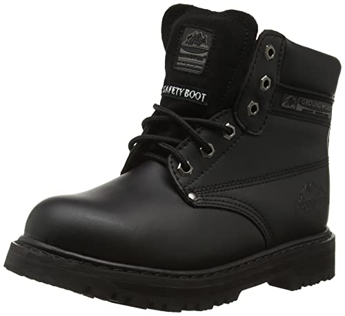 Groundwork GR86 Zapatos de Seguridad de Cuero, Unisex, Negro (Black/Grey), 45 EU (11 UK)
