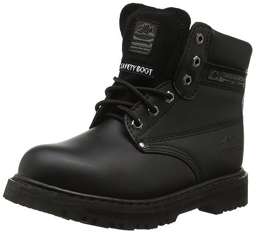 Groundwork SK21 L - zapatos de seguridad de cuero unisex, color negro, talla 41