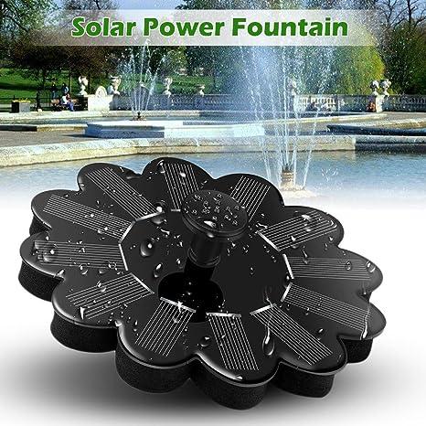 Fontaine d\'Energie Solaire Panneau Flottant de Pompe Solaire à Eau Paysage  de Jardin Kit d\'Arrosage pour Etang de Jardin Noir
