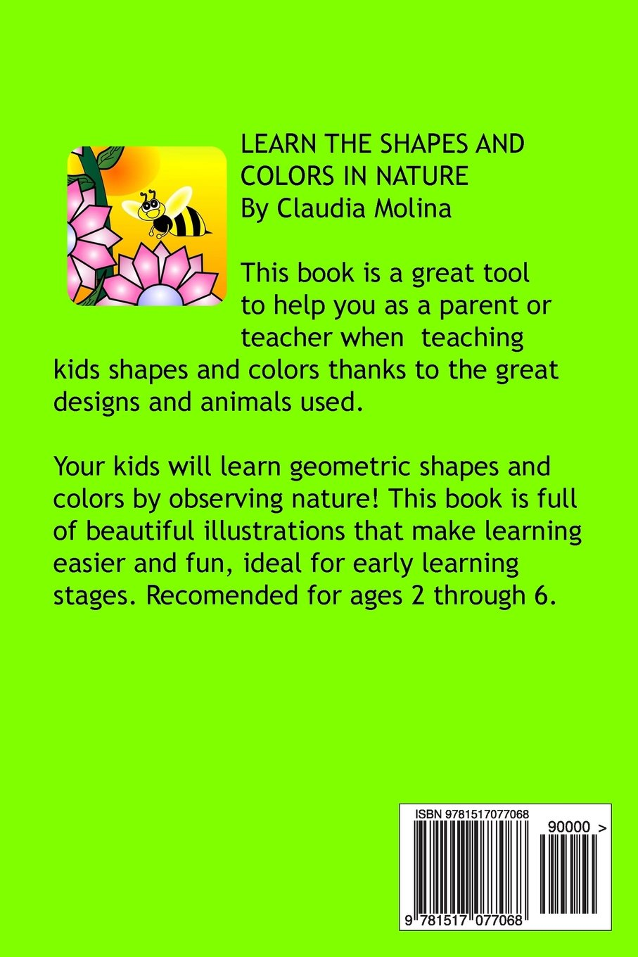 Learn the Shapes and Colors in nature: Claudia Molina: 9781517077068 ...