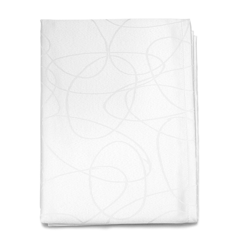 dimensioni grandi Design con fantasia di linee. 59 x 59 20/% poliestere//80/% cotone// cotone//poliestere tovaglia di lusso color argento con trattamento anti-macchie 150 X 150cm BgEurope Silver
