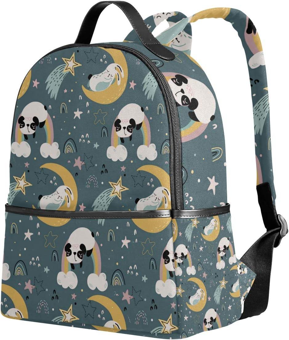 Cute Animals Moon Rainbow Backpack Bookbags Daypack Kids Girls Boys Colorful Night Backpacks Laptop Bags School Purse Travel Sports Water Resistant Men Women
