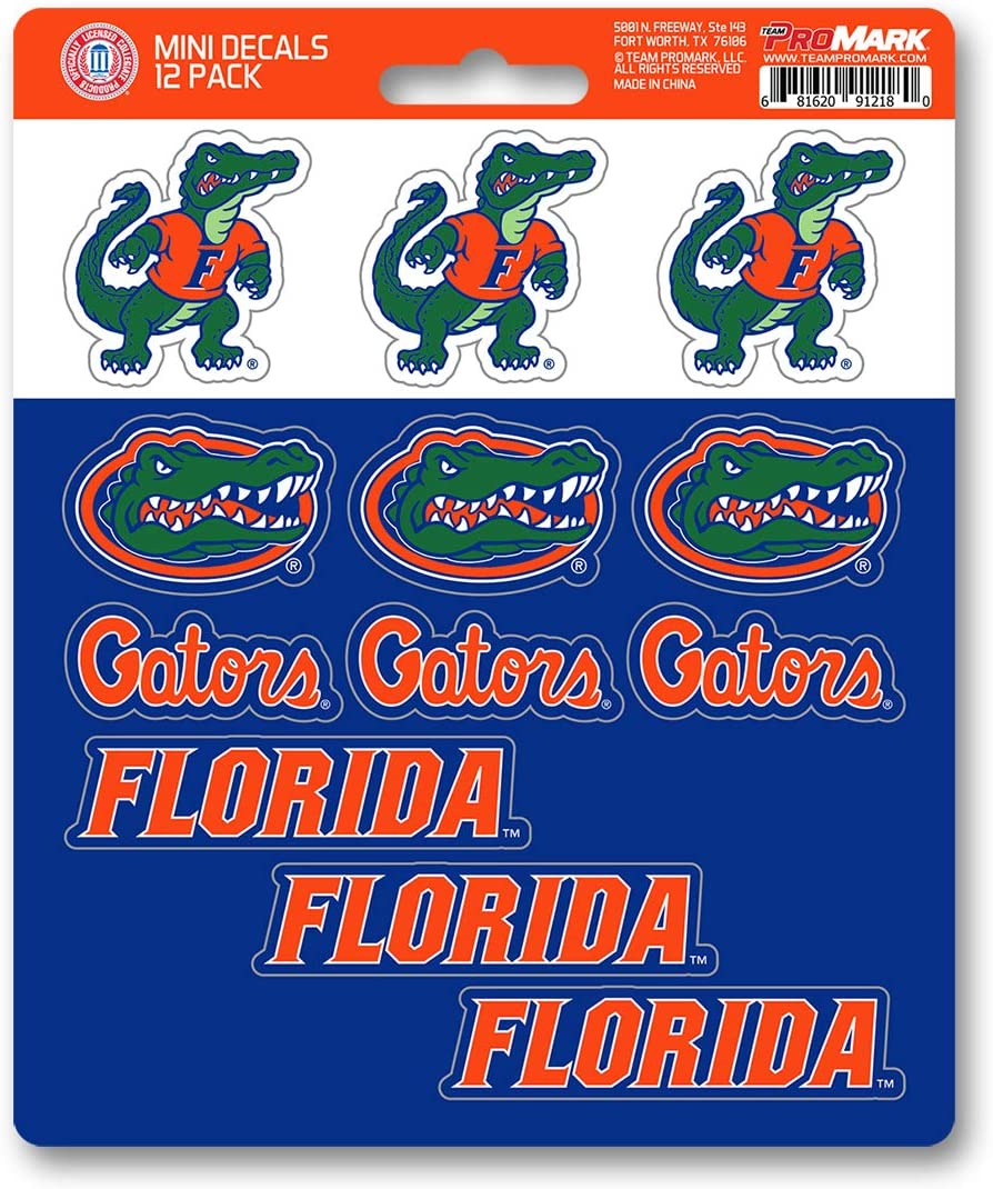 12 Pack Team Color FANMATS NCAA Florida Gators Decal Set Mini One Size