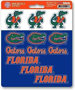 FANMATS NCAA Florida Gators Decal Set Mini (12 Pack), Team Color, One Size
